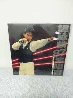 87年譚詠麟演唱會兩碟lp黑膠唱片