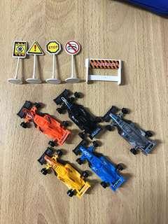 🚚 撿便宜-5台賽車玩具、號誌