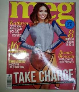 Kathryn Bernardo Meg Magazine Cover (UNSEALED)
