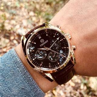 石英真皮防水錶