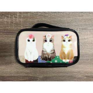 「近全新」貓咪手提化妝包 化妝品收納包