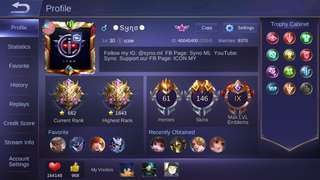 Syno Mobile Legends Account