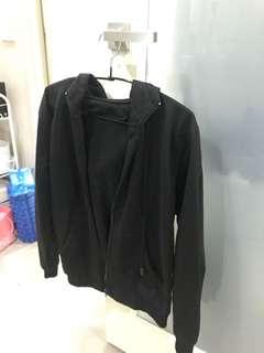 Black Jacket with hoodie