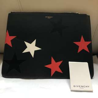 Givenchy star leather Clutch