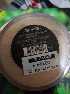 bys loose powder