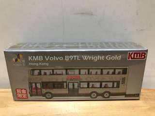 Tiny KMB Volvo B9TL Wright gold (展會限定)巴士