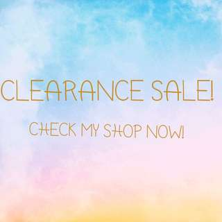 Clearance Sale! Check my shop now!