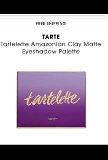 TARTE CLAY MATTE EYESHADOW PALETTE NEVER USED