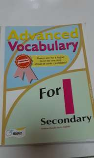 ADVANCED VOCABULARY [SECONDARY 1]