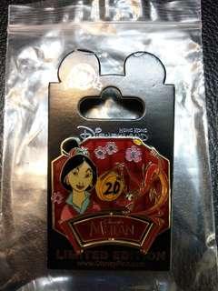 香港迪士尼樂園襟章 - 花木蘭