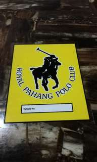 Royal Pahang Polo Club Windscreen Sticker