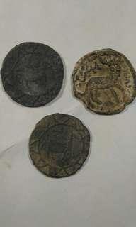 舊新疆鉛幣三枚