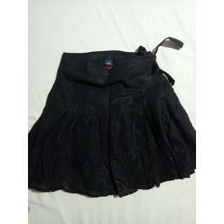 Gap Black Shiny Skirt