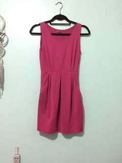 RedTag Fuchsia Pink Fitted dress