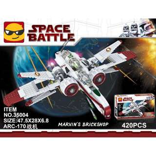 Star Wars ARC-170 Building Blocks Toy