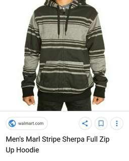 Sherpa stripe ziphoodie