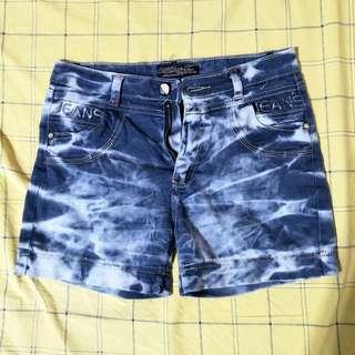 夏季彈性個性風牛仔合身短褲/M號/腰圍平量約37公分/高33公分