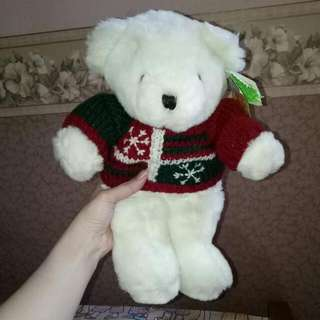 New! Cute White Bear For Christmast