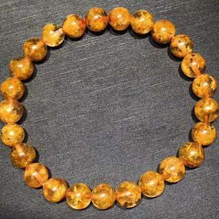 Gold rutitile Flower bracelet