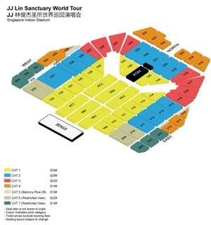 WTB 1 x JJ Lin concert ticket