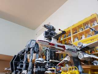 For sale: Lego Star Wars ships and vehicles LOT (built and displayed only) complete and authentic