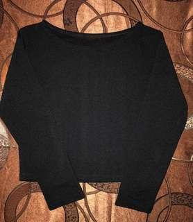 Long sleeves crop top