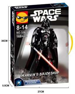 For Sale KSZ 326 Star Wars Darth Vader Buildable Figure