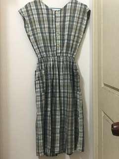 🚚 古著格子洋裝