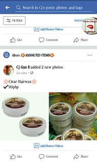 🌸HAIR WAX FOR MEN🌸