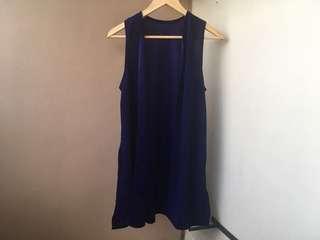 Dark Blue Long Vest