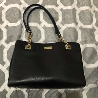 Kate Spade Emerson Place Smooth Phoebe Black Leather Bag