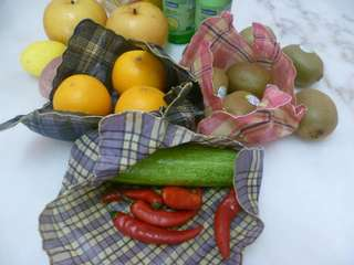 Natural & Biodegradable Beeswax Food Wraps - 3 Pieces