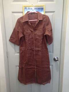 XL Copper Long Dress