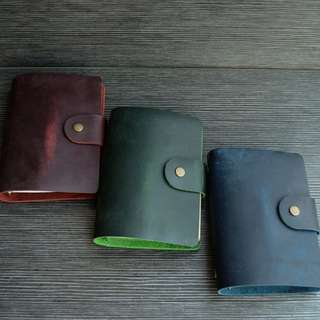 📕📕📕 [PREORDER] Genuine Leather Cherry, Grape, Green, Blue, Mustard Yellow, Midori Styled A7 Planner, Journal [No accessories]