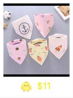 Baby Bib 5 pcs only $11