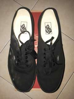 VANS AUTHENTIC ALL BLACK SECOND ORI