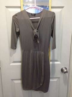 Gray fitted dress