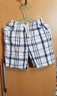 Jumping Beans Checkered Grey White Shorts