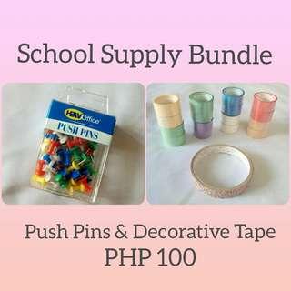 [Bundle] Decorative Tape and Push Pins