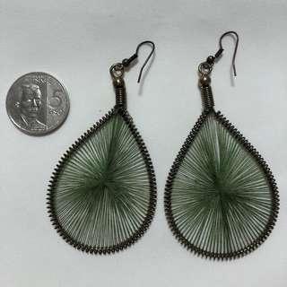 Earrings - Olive Green