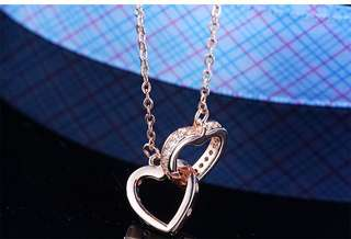 925 sliver Necklace 特價雙❤️吊墜連項鍊
