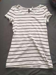 H&M striped Tshirt