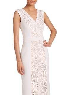 Tadashi Shoji White / Beige Dress