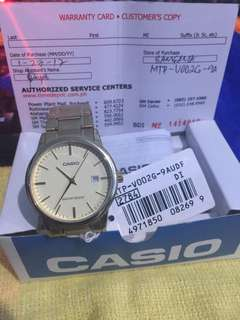 Casio Datejust Classic Orig Unisex with Warranty card