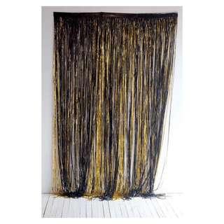 Black and Gold Fringe Curtains