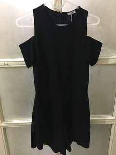 Zara Black Cold Shoulder Jumpsuit size Small