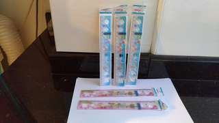 $0.70 for 5 rulers...NEW...20cm...pink and blue cartoon..short rulers