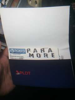 Paramore Live In Manila Lower Box Standing (FOR SWAP TO LOWER BOX B)