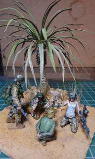 Desert Storm Angry GI Jane in 1/35 Scale Display Diorama