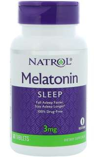 Sleep Naturally - Fall Asleep Faster, Stay Asleep Longer - Melatonin 3mg